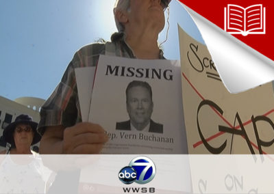 Protesters Demand Rep. Buchanan Hold Town Hall