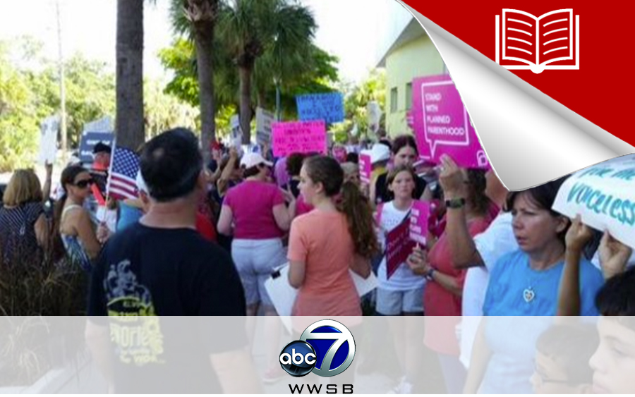 Protesters Rally Outside Sarasota Planned Parenthood